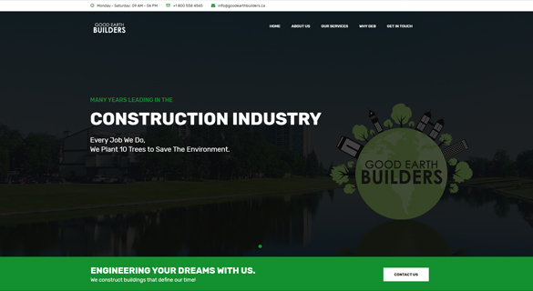 Good Earth Builders - Web Design and Development