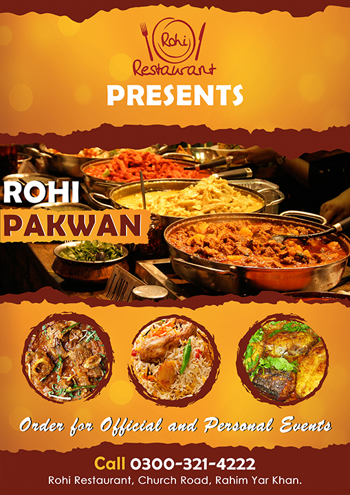 Rohi Restaurant - Flyer Design